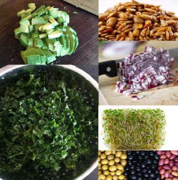 Anja's kale salad